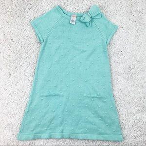 Gymboree Teal Sweater Short Sleeve Dress | 8